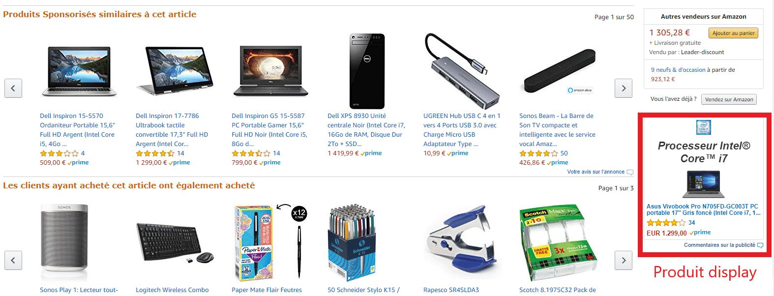 product display amazon