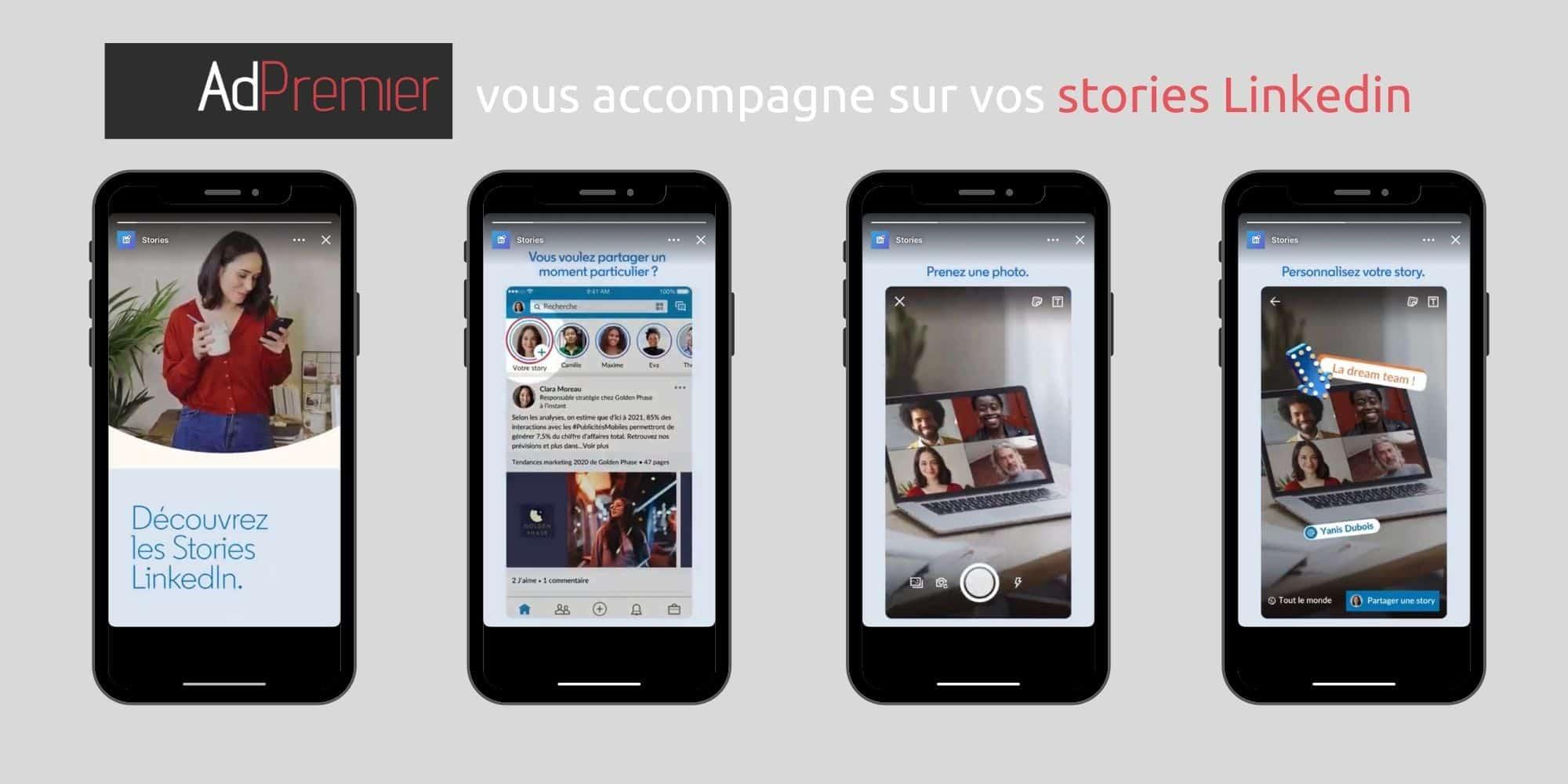 stories linkedin sponsorisés