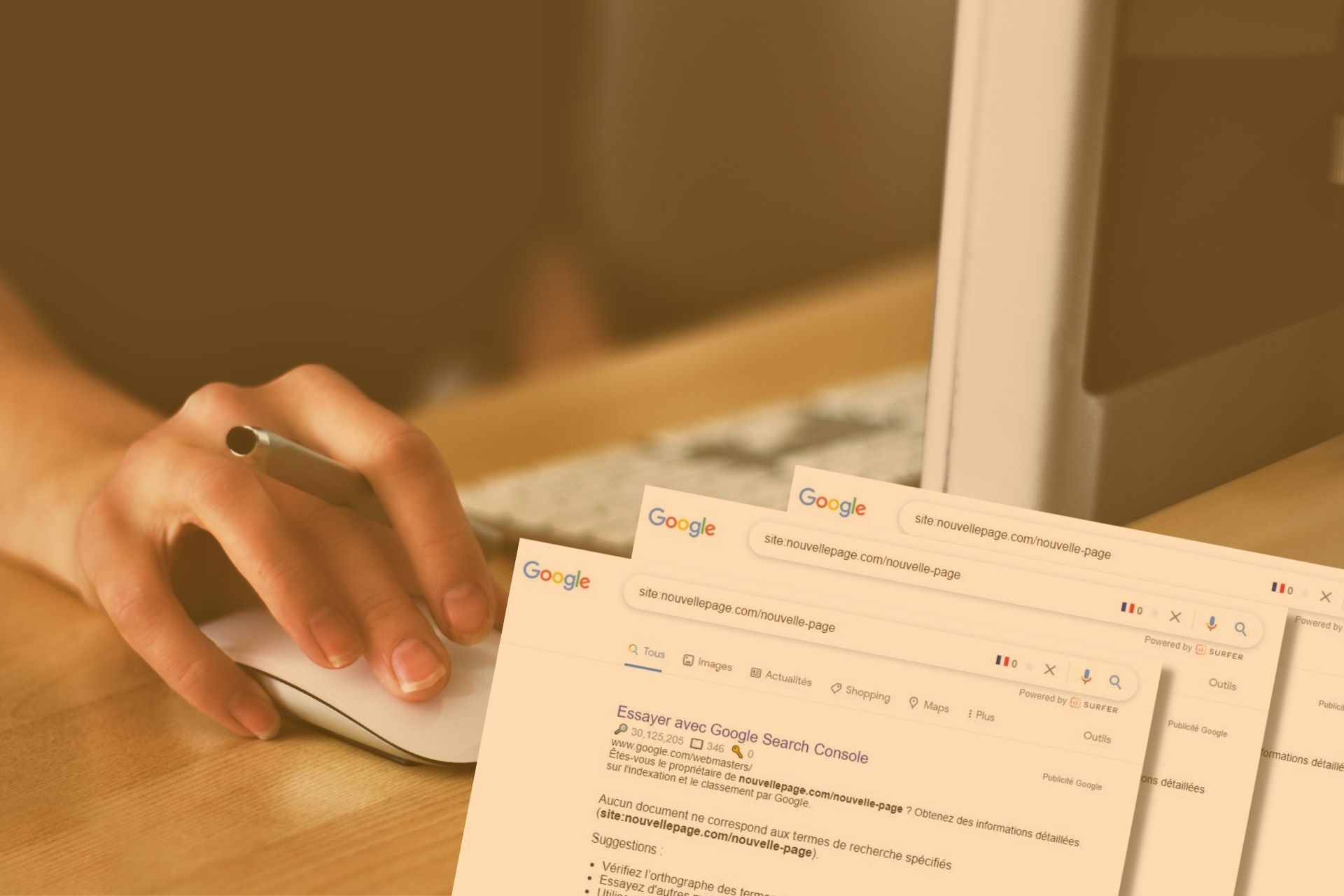 indexer nouvelle page rapidement google
